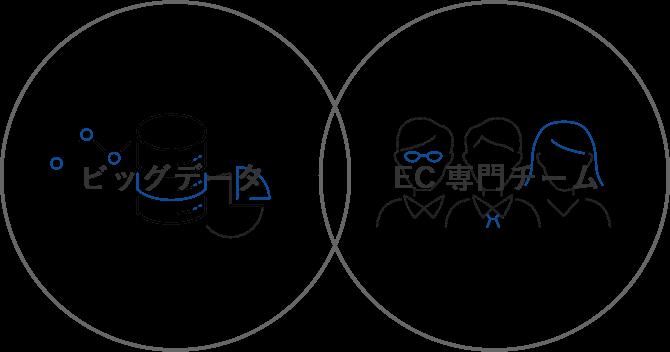 ビッグデータとEC専門チームの相乗効果を発揮します
